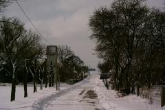 Die Karchower Straße (Winter)